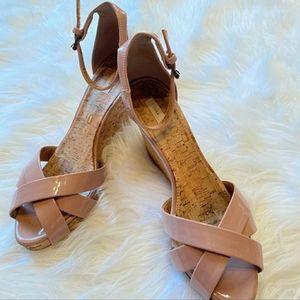 Zara Blush Pink Cork Wedges